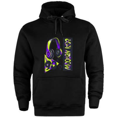 HH - Grogi 90's Siyah Cepli Hoodie (Fırsat Ürünü)