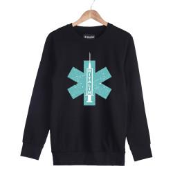 Hidra - HH - Hidra Ritalin Siyah Sweatshirt