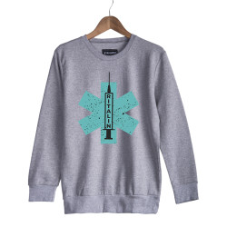 Hidra - HH - Hidra Ritalin Gri Sweatshirt
