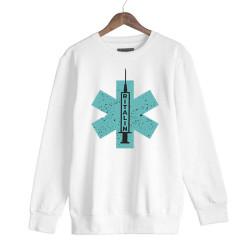 Hidra - HH - Hidra Ritalin Beyaz Sweatshirt