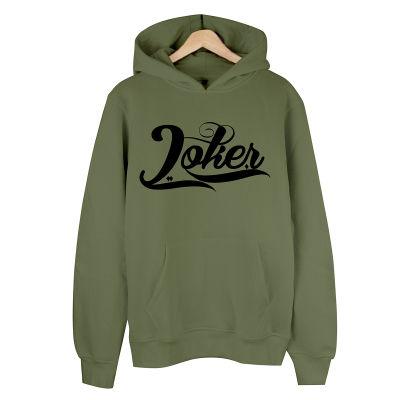HH - Joker Logo Haki Cepli Hoodie (Fırsat Ürünü)