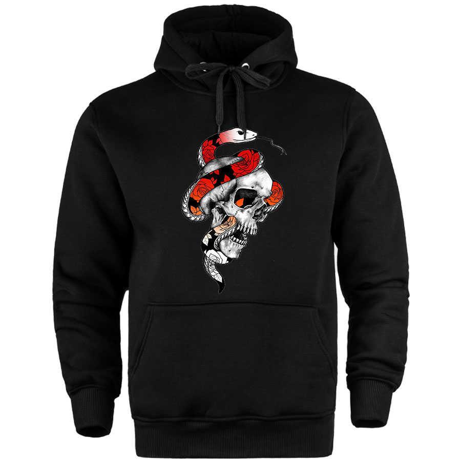 HH - Jora Snake Skull Cepli Hoodie (Fırsat Ürünü) - Gri