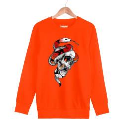 Jora - HH - Jora Snake Skull Turuncu Sweatshirt