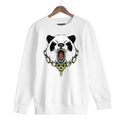 Jora - HH - Jora Panda Beyaz Sweatshirt