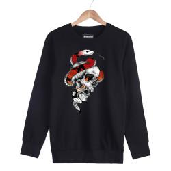 Jora - HH - Jora Snake Skull Siyah Sweatshirt