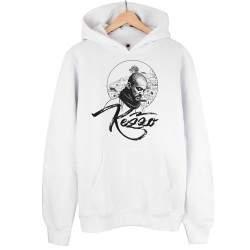 HH - Kezzo Beyaz Cepli Hoodie (Fırsat Ürünü)