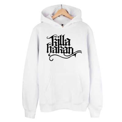 HH - Killa Hakan Tipografi Beyaz Cepli Hoodie (Fırsat Ürünü)