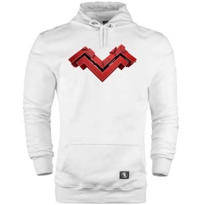 HH - Mithrain Logo Beyaz Cepli Hoodie (Fırsat Ürünü)