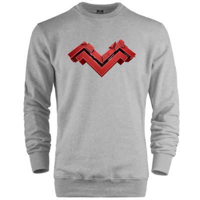 HH - Mithrain Logo Gri Sweatshirt (Fırsat Ürünü )