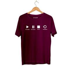 Outlet - HH - Play Bordo T-shirt (Fırsat Ürünü)