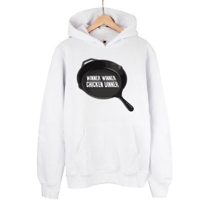 HH - PUBG Tava Beyaz Cepli Hoodie (Fırsat Ürünü)