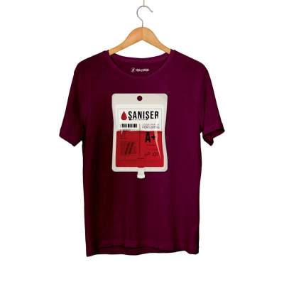 Outlet - HH - Şanışer Blood Bordo T-shirt (Seçili Ürün)