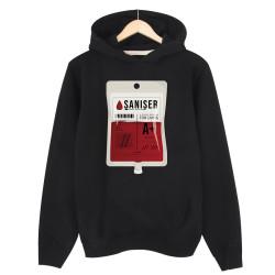 Şanışer - HH - Şanışer Blood Siyah Cepsiz Hoodie