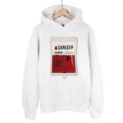 Şanışer - HH - Şanışer Blood Beyaz Cepsiz Hoodie