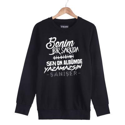 HH - Şanışer Yazamazsın Siyah Sweatshirt (Fırsat Ürünü)
