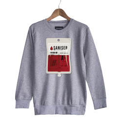Şanışer - HH - Şanışer Blood Gri Sweatshirt