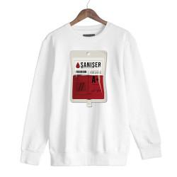 Şanışer - HH - Şanışer Blood Beyaz Sweatshirt