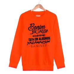 Şanışer - HH - Şanışer Yazamazsın Turuncu Sweatshirt