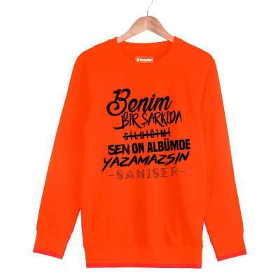 HH - Şanışer Yazamazsın Turuncu Sweatshirt