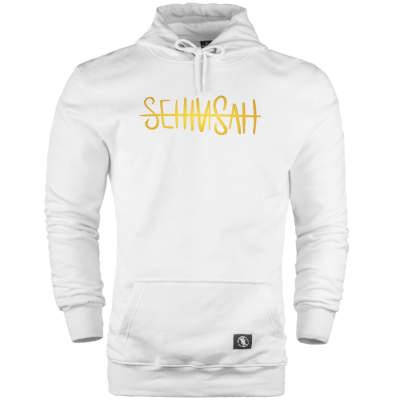 HH - Şehinşah Tipografi Gold Cepli Hoodie