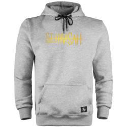 HH - Şehinşah Tipografi Gold Cepli Hoodie - Thumbnail