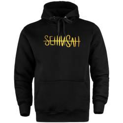 Şehinşah - HH - Şehinşah Tipografi Gold Cepli Hoodie