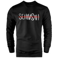 İndirim - HH - Şehinşah Tipografi Siyah Sweatshirt (Fırsat Ürünü)
