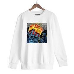 Şehinşah - HH - Şehinşah Yak Beyaz Sweatshirt