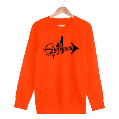 HH - Sokrat Grafomani Turuncu Sweatshirt