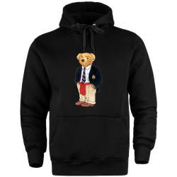 HH - The Street Design Cool Bear Cepli Hoodie - Thumbnail