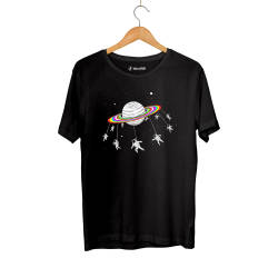 Outlet - HH - Street Design Unicorn Planet Siyah T-shirt (Seçili Ürün)