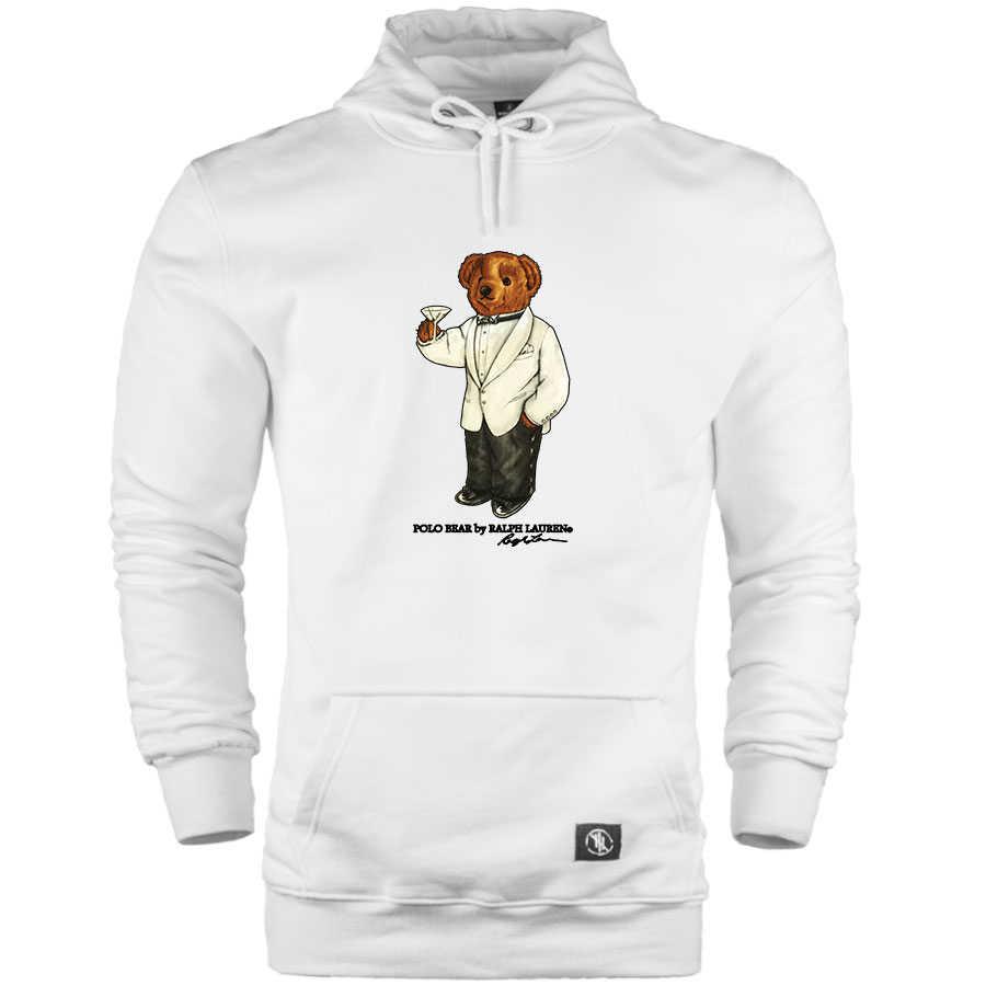 HH - Street Design Cheers Bear Cepli Hoodie (Fırsat Ürünü) - XL