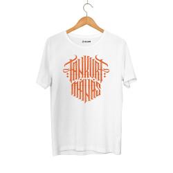 Outlet - HH - Tankurt Manas Tipografi Beyaz T-shirt (Seçili Ürün)