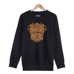 Tankurt Manas - HH - Tankurt Manas Tipografi Siyah Sweatshirt (Fırsat ürünü)