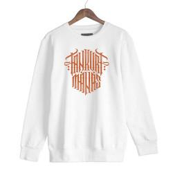 Tankurt Manas - HH - Tankurt Manas Tipografi Beyaz Sweatshirt