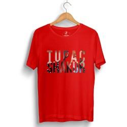 Outlet - HH - Tupac Shakur Kırmızı T-shirt (Seçili Ürün)