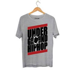HH - Underground HipHop Gri T-shirt (Seçili Ürün) - Thumbnail