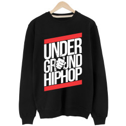 HH - UnderGround Hiphop Siyah Sweatshirt (Fırsat ürünü) - Thumbnail