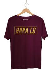 Outlet - HH - Velet Hara Lo Gold Edition Bordo T-shirt (Seçili Ürün)