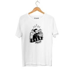 Outlet - HH - Velet Uyan Beyaz T-shirt (Seçili Ürün)