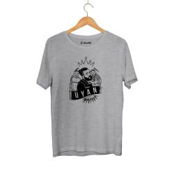 Outlet - HH - Velet Uyan Gri T-shirt (Seçili Ürün)