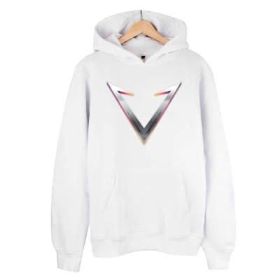 HH - Vicrains Logo Beyaz Cepli Hoodie (Fırsat Ürünü)