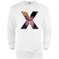 İndirim - HH - Xxxtentacion X Beyaz Sweatshirt (Fırsat Ürünü)