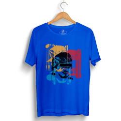 Hidra - Hollyhood - Hidra Hoşgeldin Dünya Senin Evin Mavi T-shirt