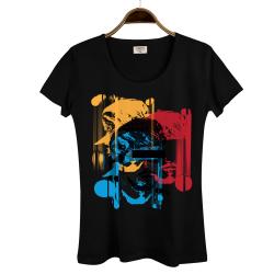 Hidra - Hollyhood - Hidra Hoşgeldin Dünya Senin Evin Kadın Siyah T-shirt