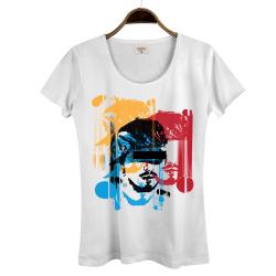Hidra - Hollyhood - Hidra Hoşgeldin Dünya Senin Evin Kadın Beyaz T-shirt