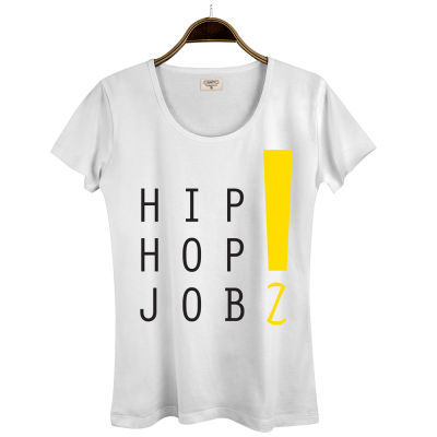 HH - Joker HipHop Jobz Kadın Beyaz T-shirt