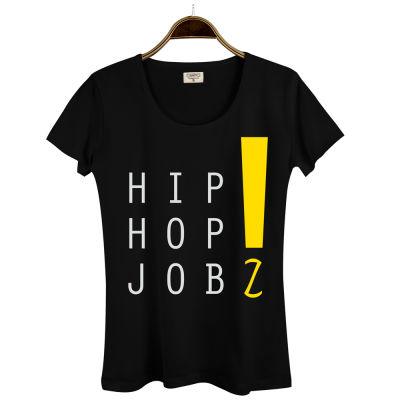 HH - Joker HipHop Jobz Kadın Siyah T-shirt