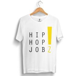 HH - Joker HipHop Jobz Beyaz T-shirt - Thumbnail
