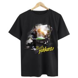 Anıl Piyancı - HollyHood - Anıl Piyancı Batı Yakası Siyah T-shirt (Seçili Ürün)